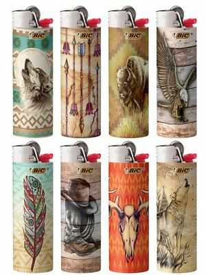 New BIC Special Edition Southwestern Series Lighters Set of 8 Lighters