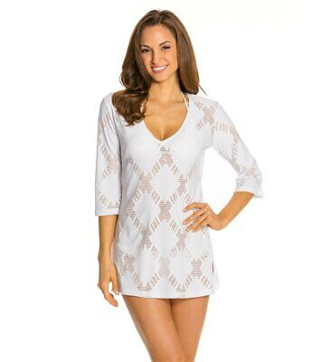 b98859b957 J VALDI WHITE X Rated 3/4 Sleeve Swimsuit Cover Up Tunic S NWT $52 ...