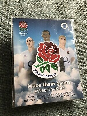 England RFU Rugby  Wear The Rose Pin Badge