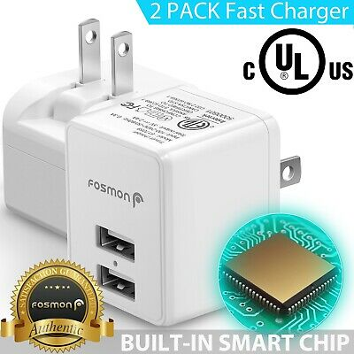 2x USB 2 Port Fast Wall Charger Adapter Plug for Apple iPad Air Mini iPod Touch