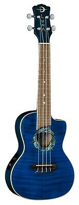 New Luna Dolphin Flame Top Ukulele w/Preamp & Gig Bag - Free Shipping!