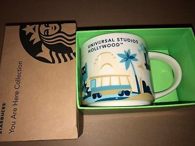 Starbucks Universal Studios Hollywood You Are Here Coffee Mug Cup 14 oz NEW!
