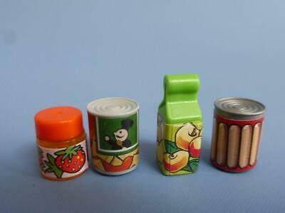 Playmobil Assorted food items  packet jar tins - House supermarket Shop NEW (E)