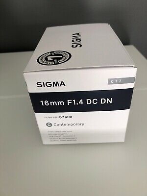 Sigma 16mm F1.4 DC DN (16 mm F/1.4) Fixed Prime Lens for Sony E-mount