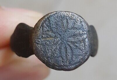 Authentic Ancient Roman Empire Legionary Soldier Bronze Wearable Ring Sz US 8