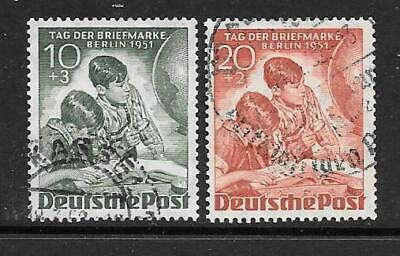 BERLIN - 1951.  Stamp Day - Set of 2, Used.  Cat £88
