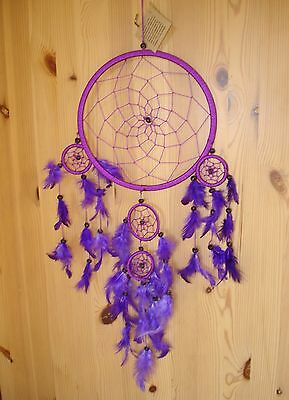Fair Trade Large multiple Purple Lovely Dream Catcher Big Mobile Stop nightmares