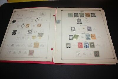 TURKEY LOT of 225+  Stamps Including Some Nice Early on Album Pages