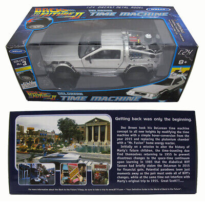 Back to the Future Part 2 DeLorean Time Machine 1/24 Scale Die Cast 181WE02