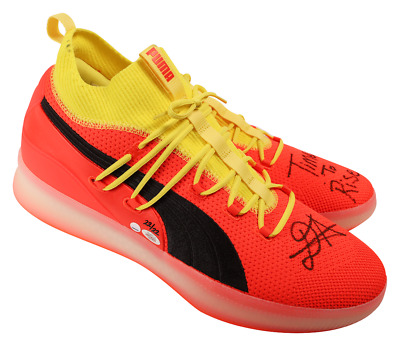 b1eb10ee1360 DEANDRE AYTON SIGNED Shoes Puma Clyde Red Blast Phx Suns Autographed ...