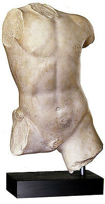 Torso of ancient Greek Youth Boy statue sculpture Museum Replica Reproduction