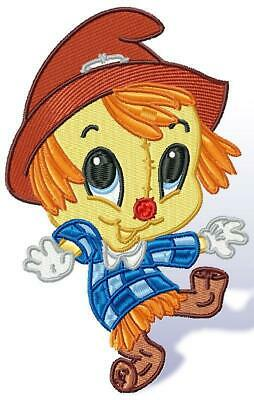 YOUNG SCARECROW 11 MACHINE EMBROIDERY DESIGNS CD or USB