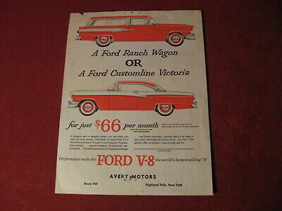 1956 Ford Dealership Mailer Salesman Showroom Catalog Original Brochure Old