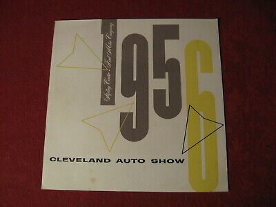 1956 Ford Dealer Styling Auto Show Sales Showroom Catalog Original Brochure Old