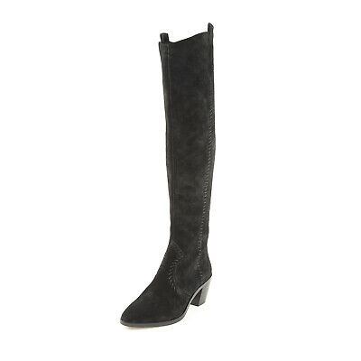 674ee09b633 REBECCA MINKOFF Women s Lizelle Black Suede Over-The-Knee Boots Sz 5  395  NIB
