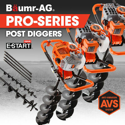 【UP TO 20%OFF】Baumr-AG Post Hole Digger Auger Petrol Drill Borer Fence Earth