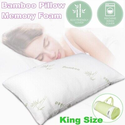 Luxury Bamboo Memory Foam Pillow Soft Anti-bacterial Premium Neck Support Q9T8