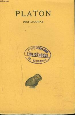 OEUVRES COMPLETES. TOME III. 1re PARTIE. PROTAGORAS. PLATON Occasion Livre