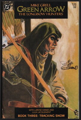 Mike Grell Green Arrow The Longbow Hunters #3 SIGNED by Dick Giordano