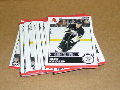 2010/11 Panini Score Rookie Traded ALEX KOVALEV LOT OF 29 CARDS PENGUINS #584