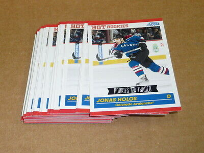 2010/11 Panini Score Rookie Traded JONAS HOLOS LOT OF 29 CARDS AVALANCHE #597