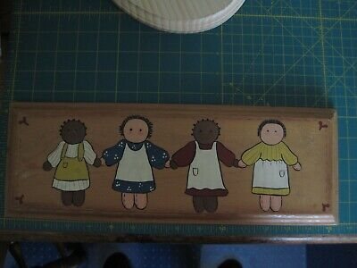 Vintage Primitive Farmhouse Country Girls Friends Wooden Sign - Hand Painted