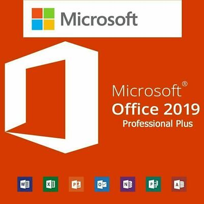Microsoft MS Office 2019 Professional Plus Download Link 1 PC License
