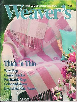 Weaver's magazine 22: THICK 'N THIN, rugs apron towels