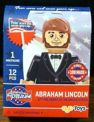 Abraham Lincoln Four Score & Seven Years Ago 12 Pcs Oyo Minifigure 1St 100 Made