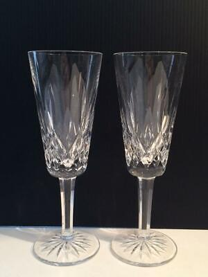 Waterford Crystal Set Of 2 Champagne Flutes Cr1565