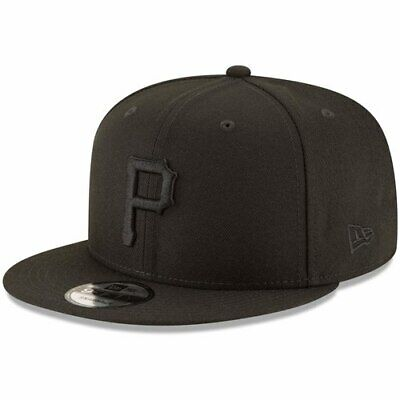 new product a060a 6781a Pittsburgh Pirates New Era Black on Black 9FIFTY Team Snapback Adjustable  Hat -