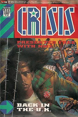 CRISIS # 15 <> 2000ad PRESENTS <> NEW MUSICAL EXPRESS GIVAWAY <> 1989 <> fine