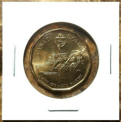 Canada 2010 Royal Canadian Navy 100th Loonie BU UNC From Mint Roll!!