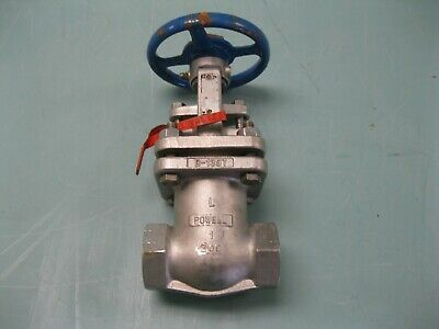 "1"" Powell SW x NPT Combination SS 2466SG8 Class 300 Gate Valve NEW F20 (2457)"
