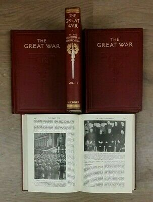 1 - 4 THE GREAT WAR by WINSTON CHURCHILL * FREE UK POST * HARDBACK * NEWNES *