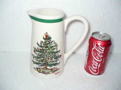 "Spode Christmas Tree #S3324 Water Pitcher 7"" tall"
