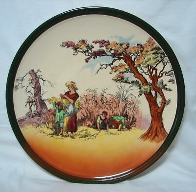 Antique ROYAL DOULTON The Gleaners Old English Scenes D6123 wall charger