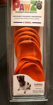 PawZ Protex Dog Boots Water-Proof Paws Disposable Reusable X-Small Orange