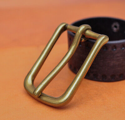 Solid Brass Long Big Heavy Single Prong Pin Leather Belt Buckle fits 43MM Strap