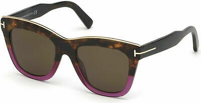 68763c48dd Authentic Tom Ford FT 0685 Julie 56E Vintage Havana Purple Sunglasses