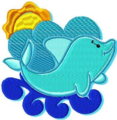 BABY DOLPHIN 10 MACHINE EMBROIDERY DESIGNS CD or USB