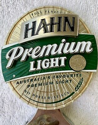 Hahn Premium Light Beer Tap Top With Mouth Decal Australian Favourite !