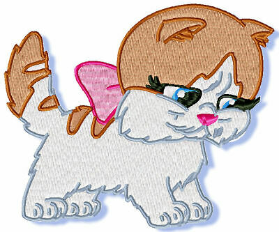 CUTE KITTENS  10 MACHINE EMBROIDERY DESIGNS CD or USB