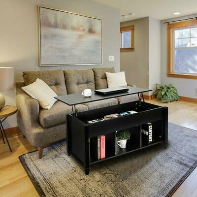 Lift Top Coffee Table Black.Lift Top Coffee Table Black Home Furniture W Hidden Storage Compartment Shelf