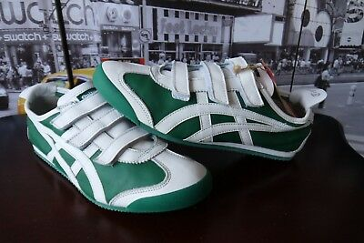 best website 30293 70870 RARE 2009 ONITSUKA Tiger MEXICO 66 BAJA Leather green white men'US 8.5 EU  42.5
