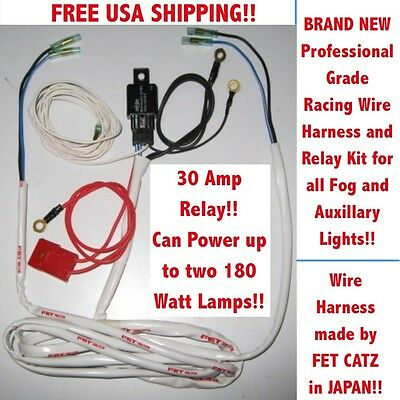 Wire Harness & Relay kit (NS) fits CATZ HELLA PIAA BOSCH KC & all FOG LIGHTS JDM