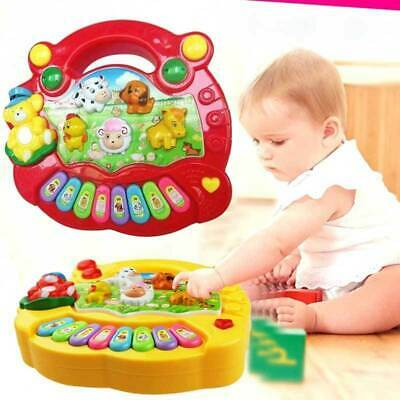 Musical Educational Animal Farm Piano Developmental Music Toy for Baby Kids UK