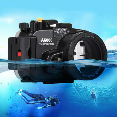 PULUZ Deep Underwater Swimming Diving Box Waterproof Camera Bag Sony A6000 Shell