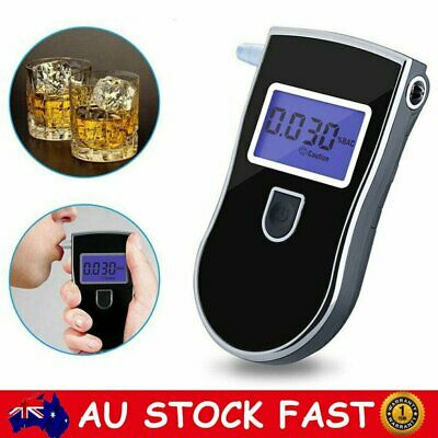 Portable Digital Breathalyser Alcohol Breath Tester Breathtester w/ Mouthpieces
