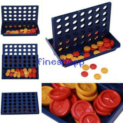 Mini Connect 4 Four Line Up In A Row Line Board Game Family Player NEW SU
